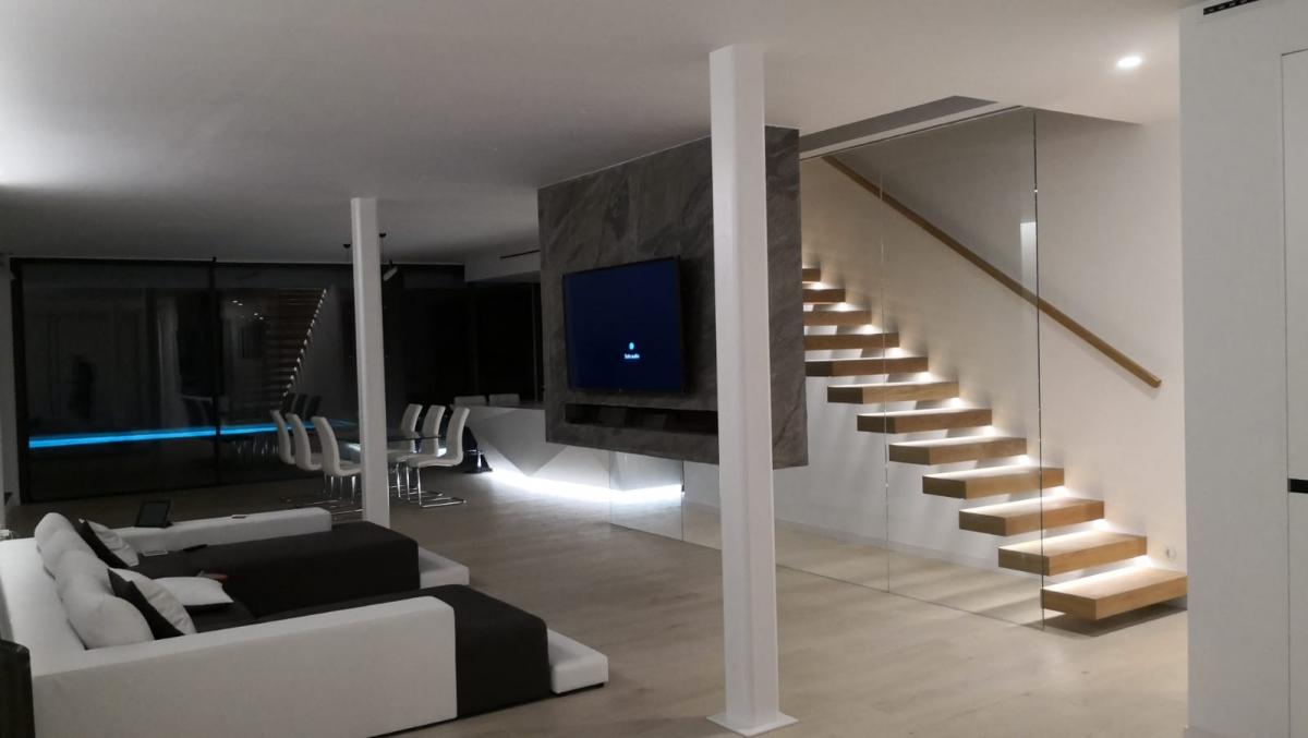 Iluminación chalet LEDS