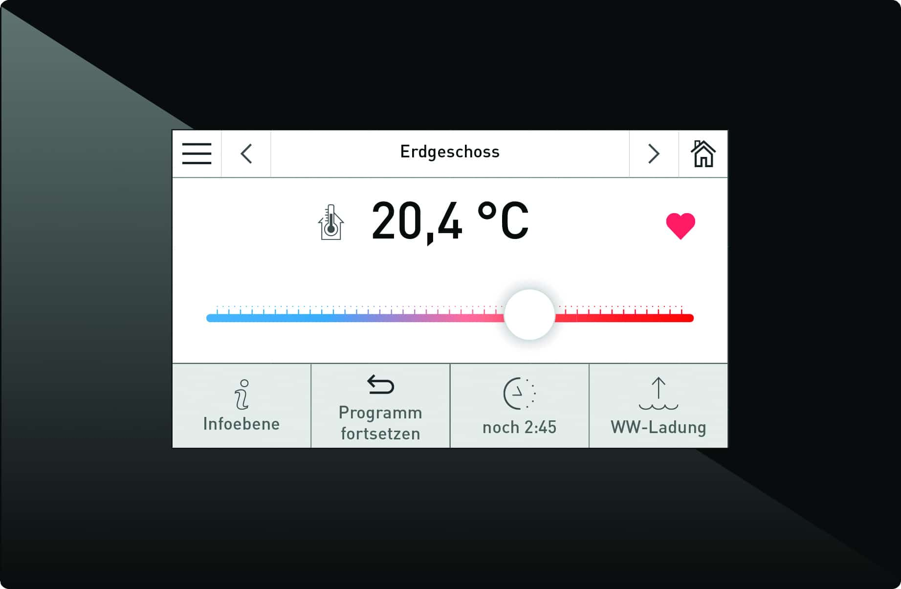 caldera de lena - panel tactil - infoWIN-touch